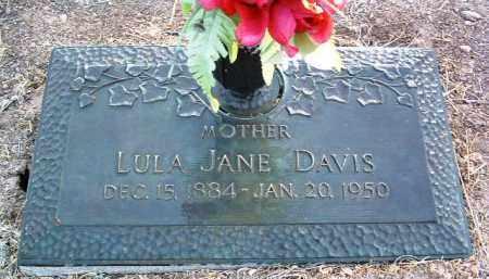 DAVIS, LULA JANE - Yavapai County, Arizona   LULA JANE DAVIS - Arizona Gravestone Photos