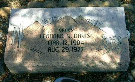 DAVIS, LEONARD VICTOR - Yavapai County, Arizona | LEONARD VICTOR DAVIS - Arizona Gravestone Photos