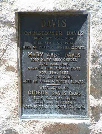 CHEDEL DAVIS, MARY ABBY - Yavapai County, Arizona | MARY ABBY CHEDEL DAVIS - Arizona Gravestone Photos