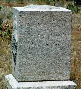 DAVIS, MARY - Yavapai County, Arizona | MARY DAVIS - Arizona Gravestone Photos