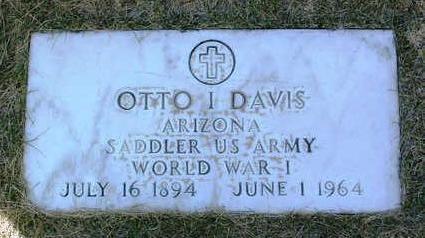 DAVIS, OTTO  I. - Yavapai County, Arizona | OTTO  I. DAVIS - Arizona Gravestone Photos