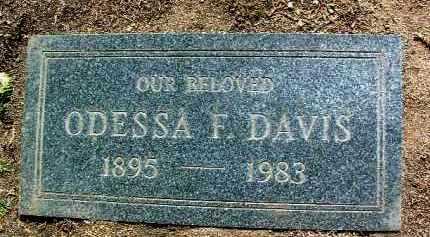 TRAW DAVIS, ODESSA - Yavapai County, Arizona | ODESSA TRAW DAVIS - Arizona Gravestone Photos