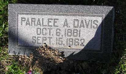 DAVIS, PARALEE AMERICA - Yavapai County, Arizona | PARALEE AMERICA DAVIS - Arizona Gravestone Photos