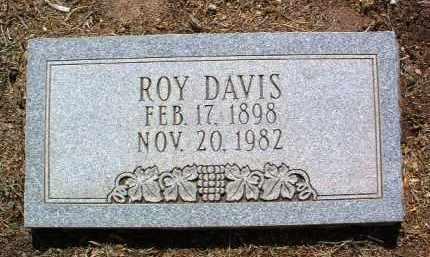 DAVIS, ROY LEONARD - Yavapai County, Arizona   ROY LEONARD DAVIS - Arizona Gravestone Photos