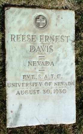 DAVIS, REESE ERNEST - Yavapai County, Arizona | REESE ERNEST DAVIS - Arizona Gravestone Photos