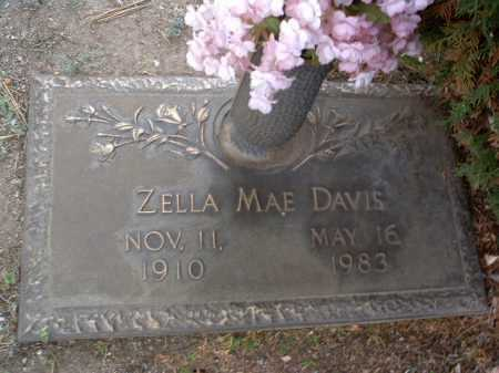DAVIS, ZELLA MAE - Yavapai County, Arizona | ZELLA MAE DAVIS - Arizona Gravestone Photos