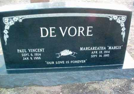 DE VORE, MARGAREATHA (MARGIE) - Yavapai County, Arizona | MARGAREATHA (MARGIE) DE VORE - Arizona Gravestone Photos