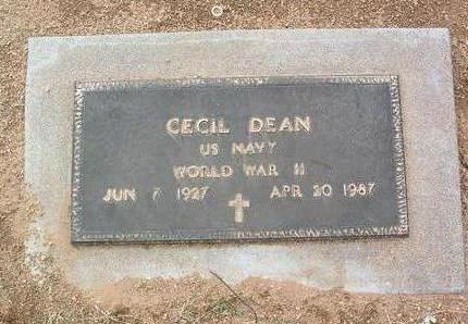 DEAN, CECIL - Yavapai County, Arizona | CECIL DEAN - Arizona Gravestone Photos