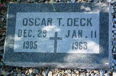 DECK, OSCAR THOMAS - Yavapai County, Arizona | OSCAR THOMAS DECK - Arizona Gravestone Photos