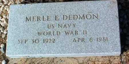 DEDMON, MERLE E. - Yavapai County, Arizona   MERLE E. DEDMON - Arizona Gravestone Photos