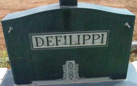 DEFILIPPI, FAMILY HEADSTONE - Yavapai County, Arizona   FAMILY HEADSTONE DEFILIPPI - Arizona Gravestone Photos