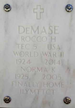 DEMASE, ROCCO HERMAN - Yavapai County, Arizona | ROCCO HERMAN DEMASE - Arizona Gravestone Photos