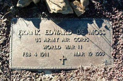 DE MOSS, FRANK EDWARD, SR. - Yavapai County, Arizona | FRANK EDWARD, SR. DE MOSS - Arizona Gravestone Photos