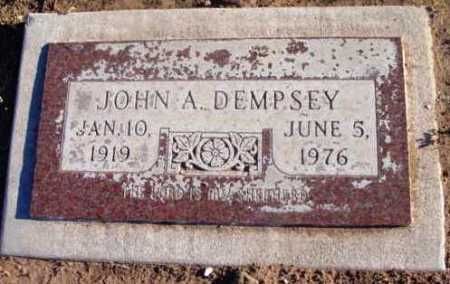 DEMPSEY, JOHN A. - Yavapai County, Arizona | JOHN A. DEMPSEY - Arizona Gravestone Photos