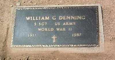 DENNING, WILLIAM G. - Yavapai County, Arizona | WILLIAM G. DENNING - Arizona Gravestone Photos