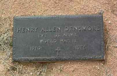 DENSMORE, HENRY ALLEN - Yavapai County, Arizona   HENRY ALLEN DENSMORE - Arizona Gravestone Photos