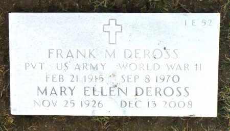 MICK DEROSS, MARY ELLEN - Yavapai County, Arizona | MARY ELLEN MICK DEROSS - Arizona Gravestone Photos