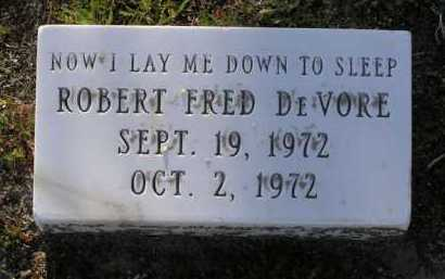 DE VORE, ROBERT FRED - Yavapai County, Arizona   ROBERT FRED DE VORE - Arizona Gravestone Photos