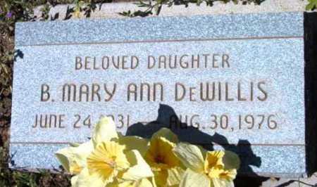DEWILLIS, B. MARY ANN - Yavapai County, Arizona | B. MARY ANN DEWILLIS - Arizona Gravestone Photos