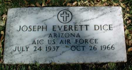 DICE, JOSEPH EVERETT - Yavapai County, Arizona | JOSEPH EVERETT DICE - Arizona Gravestone Photos