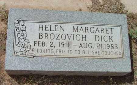 BROZOVICH DICK, HELEN MARGARET - Yavapai County, Arizona | HELEN MARGARET BROZOVICH DICK - Arizona Gravestone Photos