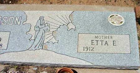 DICKERSON, ETTA E. - Yavapai County, Arizona | ETTA E. DICKERSON - Arizona Gravestone Photos