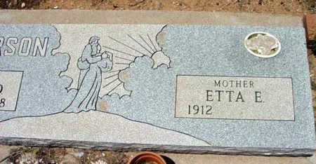 DICKERSON, ETTA E. - Yavapai County, Arizona | ETTA E. DICKERSON - Arizona Gravestone Photos