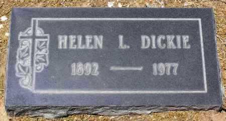 DICKIE, HELEN HAZEL L. - Yavapai County, Arizona   HELEN HAZEL L. DICKIE - Arizona Gravestone Photos