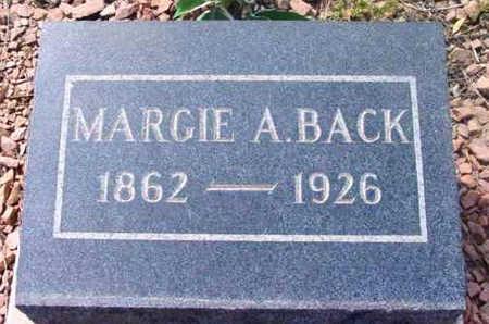 DICKINSON BACK, MARJORIE  ANNE (MARGIE) - Yavapai County, Arizona | MARJORIE  ANNE (MARGIE) DICKINSON BACK - Arizona Gravestone Photos