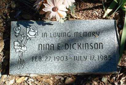 ALLEN DICKINSON, NINA E. - Yavapai County, Arizona | NINA E. ALLEN DICKINSON - Arizona Gravestone Photos