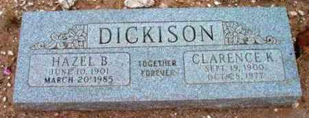 BRUCE DICKISON, HAZEL B. - Yavapai County, Arizona | HAZEL B. BRUCE DICKISON - Arizona Gravestone Photos