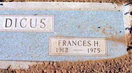 D'ARCY DICUS, FRANCES H. - Yavapai County, Arizona   FRANCES H. D'ARCY DICUS - Arizona Gravestone Photos