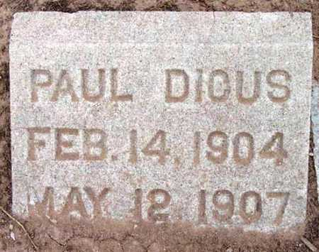 DICUS, PAUL - Yavapai County, Arizona   PAUL DICUS - Arizona Gravestone Photos