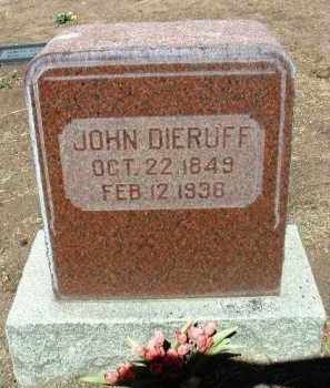 DIERUFF, JOHN - Yavapai County, Arizona | JOHN DIERUFF - Arizona Gravestone Photos