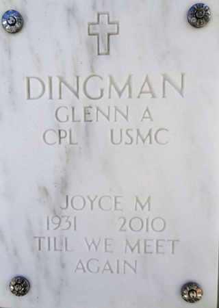 DINGMAN, JOYCE M. - Yavapai County, Arizona | JOYCE M. DINGMAN - Arizona Gravestone Photos