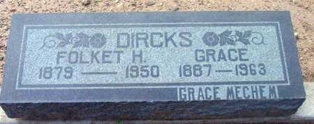 DIRCKS, FOLKET HENRY - Yavapai County, Arizona | FOLKET HENRY DIRCKS - Arizona Gravestone Photos