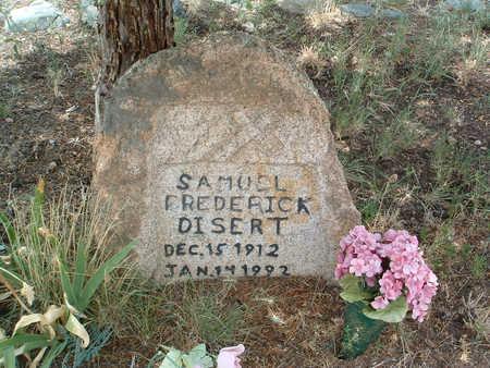 DISERT, SAMUEL LEVI FREDERICK - Yavapai County, Arizona   SAMUEL LEVI FREDERICK DISERT - Arizona Gravestone Photos