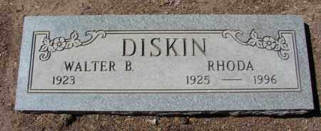 DISKIN, WALTER BRADFORD - Yavapai County, Arizona | WALTER BRADFORD DISKIN - Arizona Gravestone Photos