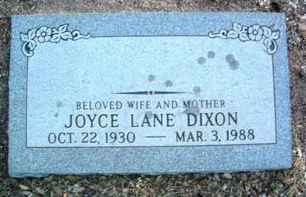 LANE DIXON, JOYCE N. - Yavapai County, Arizona | JOYCE N. LANE DIXON - Arizona Gravestone Photos