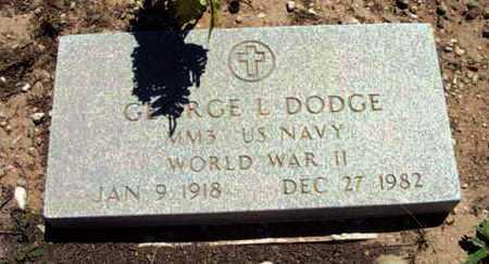 DODGE, GEORGE LANCASTER - Yavapai County, Arizona   GEORGE LANCASTER DODGE - Arizona Gravestone Photos