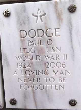 DODGE, PAUL OLIVER - Yavapai County, Arizona | PAUL OLIVER DODGE - Arizona Gravestone Photos