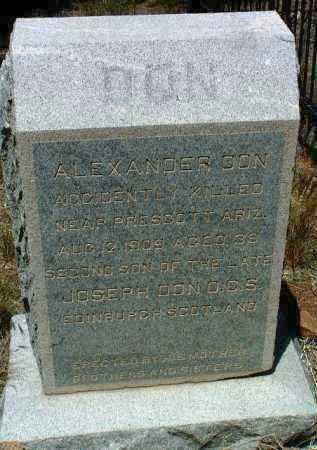 DON, ALEXANDER - Yavapai County, Arizona   ALEXANDER DON - Arizona Gravestone Photos