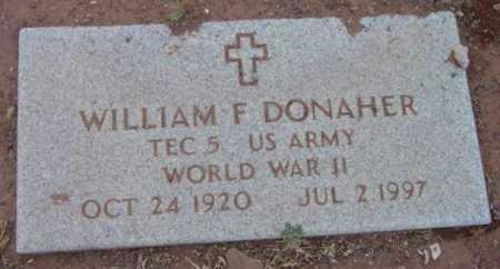 DONAHER, WILLIAM F. - Yavapai County, Arizona | WILLIAM F. DONAHER - Arizona Gravestone Photos