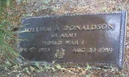 DONALDSON, WILLIAM A. - Yavapai County, Arizona | WILLIAM A. DONALDSON - Arizona Gravestone Photos
