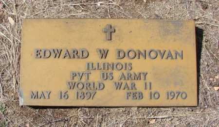 DONOVAN, EDWARD W. - Yavapai County, Arizona   EDWARD W. DONOVAN - Arizona Gravestone Photos