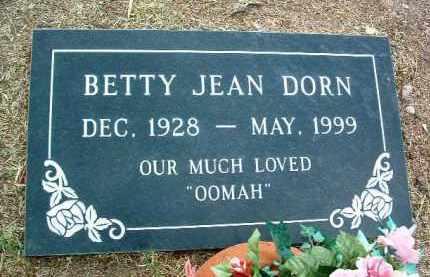 DORN, BETTY JEAN - Yavapai County, Arizona | BETTY JEAN DORN - Arizona Gravestone Photos