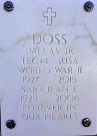 DOSS, DALLAS D., JR. - Yavapai County, Arizona   DALLAS D., JR. DOSS - Arizona Gravestone Photos