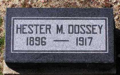 JONES DOSSEY, HESTER M. - Yavapai County, Arizona | HESTER M. JONES DOSSEY - Arizona Gravestone Photos