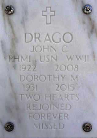 DRAGO, JOHN CHARLES - Yavapai County, Arizona | JOHN CHARLES DRAGO - Arizona Gravestone Photos