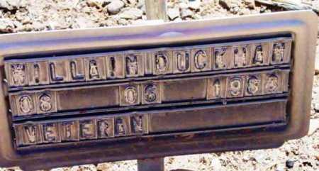DUCKHAM, WILLIAM - Yavapai County, Arizona | WILLIAM DUCKHAM - Arizona Gravestone Photos